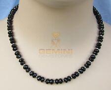 Gemini Gemstones  Galaxit Kette schwarzer Spinell facettiert mit Perle Damen