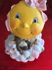 New listing Charming Tails Moon & Stars Bank Mouse Pink Ribbon #93/614