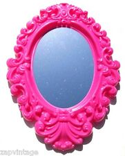 New Oval SHABBY CHIC / VICTORIAN Gothic Style Plastic Hanging Wall Mirror
