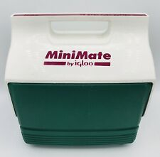 New listing Minimate Igloo Green Maroon, Linch Box Cooler Great For Camping Retro 1990's