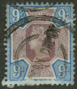 Great Britain - Victoria 1887 9d Dull Purple & Blue