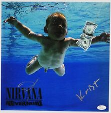 "Dave Grohl Kirst Nirvana Nevermind JSA 12"" Album photo Signed Autograph"