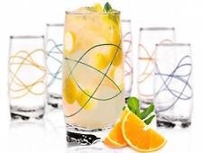 6 Longdrinkgläser 350ml Wellenoptik Saftgläser Wassergläser Trinkgläser