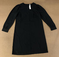 Old Navy Women's Size Small Black Long Sleeve Crepe Shift Dress NWT