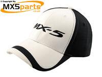 Official Mazda MX5 Merchandise Baseball Cap Hat Black & White Large MX5 Logo