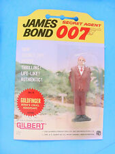 1965 GILBERT JAMES BOND 007  GOLDFINGER FIGURE MINT CARDED MOC