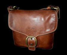 RARE COACH BLEECKER LG WHISKEY Leather TATTERSALL Duffle PURSE BAG SATCHEL WOW!