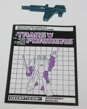 1987 Transformers G1 Headmasters Weirdwolf Weapons Bi-Lingual Canadian Manual