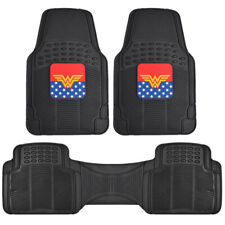 Wonder Woman Car Floor Mats 3 Pieces Full Set Protection Accessory for Auto