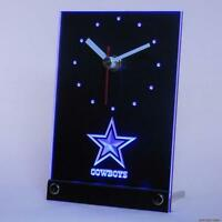 Dallas Cowboys Table Desk Top 3D LED Clock Light NFL Football Sports Team