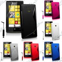 Housse Coque Etui TPU Silicone GEL Soupe Motif S Vague Nokia Lumia 520