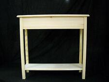 """Unfinished 36"""" Console, Sofa, Foyer Beveled Edge 11""""deep Pine Table w/ Shelf"""