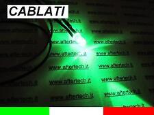10 LED VERDE VERDI 5mm 13.000mcd CABLATI 30cm CON RESISTENZA 12v CON CAVO A2B29