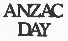 Scrapbooking words- ANZAC DAY - Black