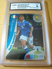 DANIELE DEL ROSSI ITALY 2014 ADRENALYN XL FIFA WORLD CUP FANS FAVOURITE GRADED 9