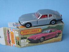 Lesney Matchbox Superfast Datsun 260Z Silver Body Boxed
