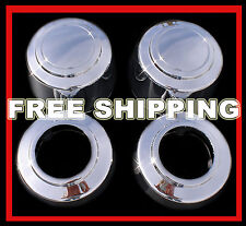 "SETOF4 FORD TRUCK VAN 8LUG 16"" Chrome Wheel Center Hub Caps Nut Covers Alloy Rim"
