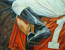 "Horse Racing Art Derby Breeders Cup Saddle Cloth Matted Print Red 11"" x 14"" Mat"