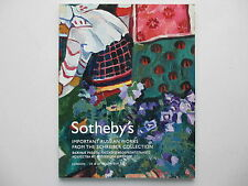 Important Russian Works From The Schreiber Collection. Sotheby's, London 2007