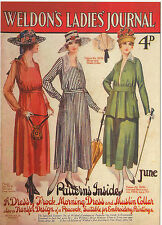 ROBERT  OPIE  ADVERTISING  POSTCARD  -  WELDON'S  LADIES  JOURNAL  OF  1917