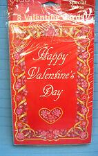8 Happy Valentines Day Cards & Envelopes & Cards Sent Checklist