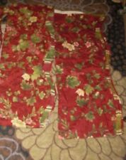 waverly 2 piece valances 74 x14 each piece floral and striped at bottom
