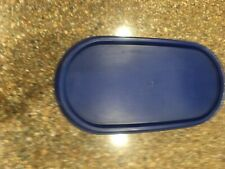 Tupperware Modular Mates Oval #1 w/Navy Blue Lid in Good Used condition