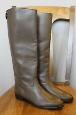 New J Crew Field Boots Dark Wood Sz 6.5 02960 $328 Regular Calf