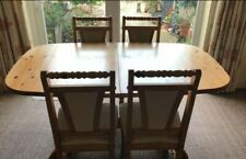 Extending 5ft pine dining table plus 4 chairs