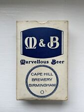 More details for m & b marellous beer full set of playing cards (rare) great for a man cave pub