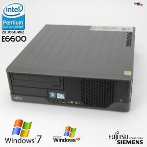 PC Computer Fujitsu Esprimo E5731 E STAR5 D3024 Dual Core E6600 4GB 250GB RS-232