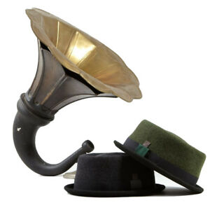 Tony Grey, Brown, Dark Green Skimpy Brim Felt Porkpie Winter Mens Womens Hat