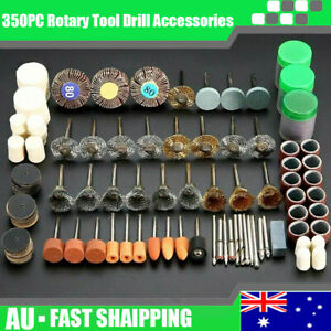 350X Dremel Rotary Tool Accessories Kit Grinding Polishing Shank Craft Bits