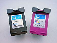 2PK HP 63XL BLK HP63XL CLR Ink Cartridge for HP Deskjet 3638 3636 3630 2132 1115