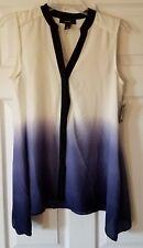 $59 NWT Alfani Womens Purple Ombre Handkerchief Button Down Shirt Size 4