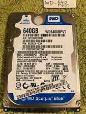 "WD Scorpio Blue 640GB WD6400BPVT SATA Drive 2.5"" , USED GOOD CONDITION"