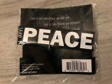 PEACE LOVE WORLD PEACE SILICONVE BRACELET NEW