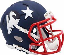 New England Patriots Mini Helmet Speed Style Riddell Replica AMP Alternate
