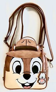 Loungefly Disney Parks Chip N Dale Rescue Rangers Mini Backpack Reversible Bag