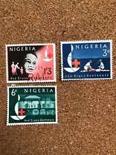 Nigeria Used Stamp Set. Red Cross Centenary Franked Africa