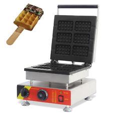 Commercial Belgian Waffle Maker Nonstick Electric 6pcs Belgian Waffle Baker 110V