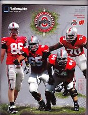 2009 OHIO STATE VS WISCONSIN GAMEDAY PROGRAM ---OCT 10 2009