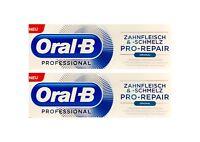 2x Oral-B Professional Zahnfleisch und Zahnschmelz Pro-Repair Original 75 ml