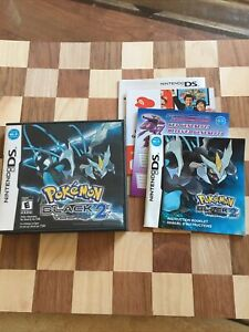 Pokemon: Black Version 2 Authentic Nintendo DS Like New w/Case, Manual & Inserts