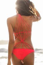 Costume Da Bagno Aperto Strappy Monokini string slim sling Swimwear Swimsuit L