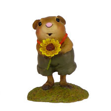 WOODCHUCK by Wee Forest Folk, WFF# FB-1, Flower Baby Series, Retired 2011