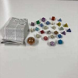 vintage dice LOT Dungeons & Dragons D&D 100 sided zocchihedron polyhedra d100