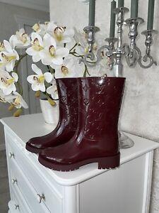 Authentic Louis Vuitton Monogram Rubber Rain Boots Sz 36 US 6 6.5 ❤️
