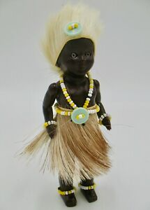 Vintage Authentic Plastic South African Chief Doll