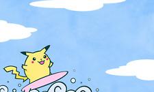 Surfing Pikachu Custom Playmat Limited Mat